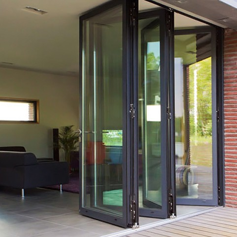 Coloured aluminium bi-folding doors