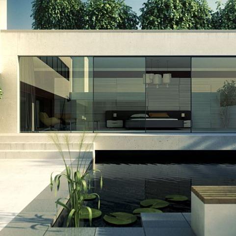 Hifinity modern sliding patio door